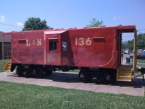 Bellevue, Tennessee - The red caboose of Bellevue Park.