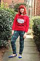 Red Christmas Sheep Ugly Sweater with Skinny Green Plaid Pants and Blue Pointed Flats (23662091156).jpg