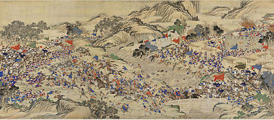 A 19th-century depiction of the Taiping Rebellion (1850-1864) Regaining the Provincial Capital of Ruizhou.jpg