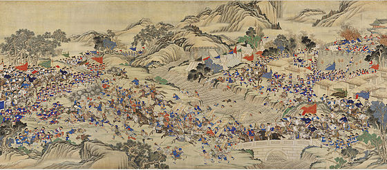 A scene of the Taiping Rebellion, 1850-1864 Regaining the Provincial Capital of Ruizhou.jpg