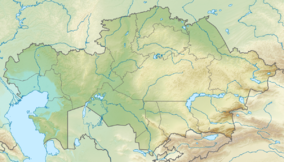 Map showing the location of Altyn-Emel National Park