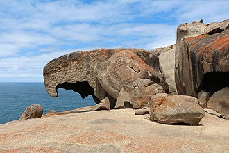 Flinders Chase National Park - Remarkable Rocks, in the southern part of the park