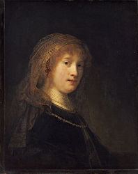 Rembrandt van Rijn : Saskia van Uylenburgh, the Wife of the Artist