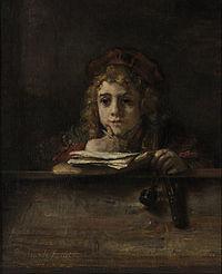 Rembrandt van Rijn - Titus at his Desk - Google Art Project.jpg
