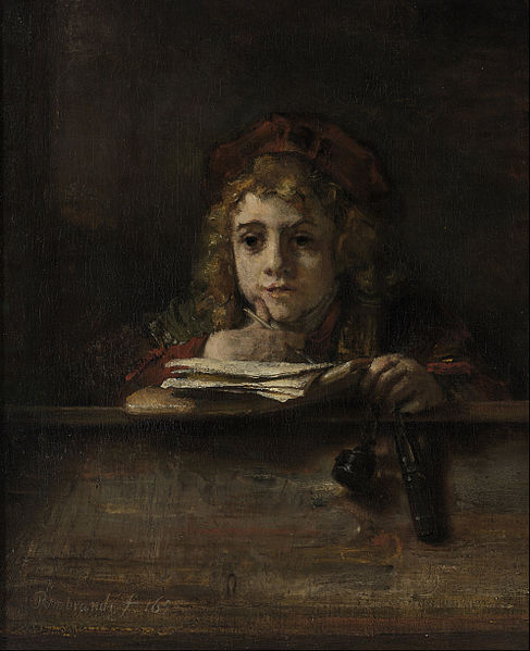 File:Rembrandt van Rijn - Titus at his Desk - Google Art Project.jpg