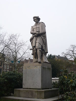 Louis Royer - Statue of Rembrandt on the Rembrandtplein in Amsterdam