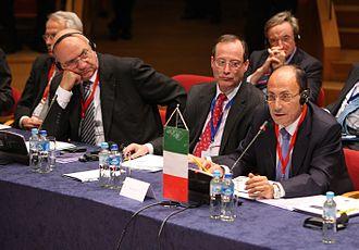 Renato Schifani - Renato Schifani (right) at the meeting of the Association of European Senates in Gdańsk (2009)