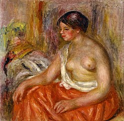 Seated Woman with Bared Breast