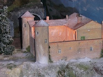 The Chorus (2004 film) - A model of the boarding school featured in the film at a miniature railway museum in Châtillon-sur-Chalaronne