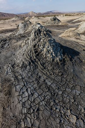 State reserves of Azerbaijan - Mud volcano in Gobustan.