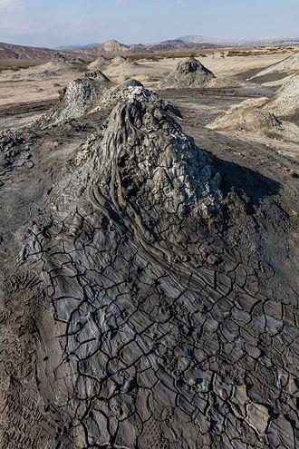 State reserves of Azerbaijan - Mud volcano in Gobustan.
