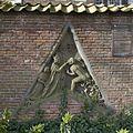 Resten van de Domkerk op de binnenplaats achter de Domtoren, met een in de muur verwerkte wimberg - Utrecht - 20416160 - RCE.jpg