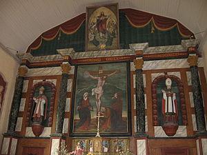 Ambrugeat - Image: Retable XVIIème (église d'Ambrugeat)