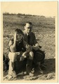 Reuven Kritz with his father in Mizra in 1939.tif