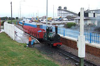 Rhyl Miniature Railway - Visiting engine Effie is a replica of a Heywood Engine.