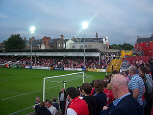 Inchicore - Richmond Park during a St. Patrick's Athletic match.