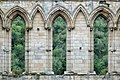 Rievaulx Abbey - Inside detail of the Presbytery viewed from the Nave.jpg