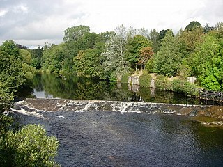 River Ericht river in Perthshire, United Kingdom