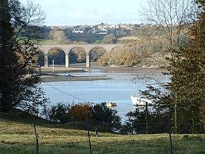 River Lynher - The River Lynher near Saltash, as seen from the Antony estate