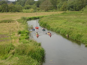 River Wensum -  The river viewed from Marriott's Way, Costessey