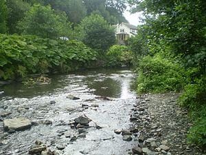 Llanddulas - River Dulas at Rhyd y Foel