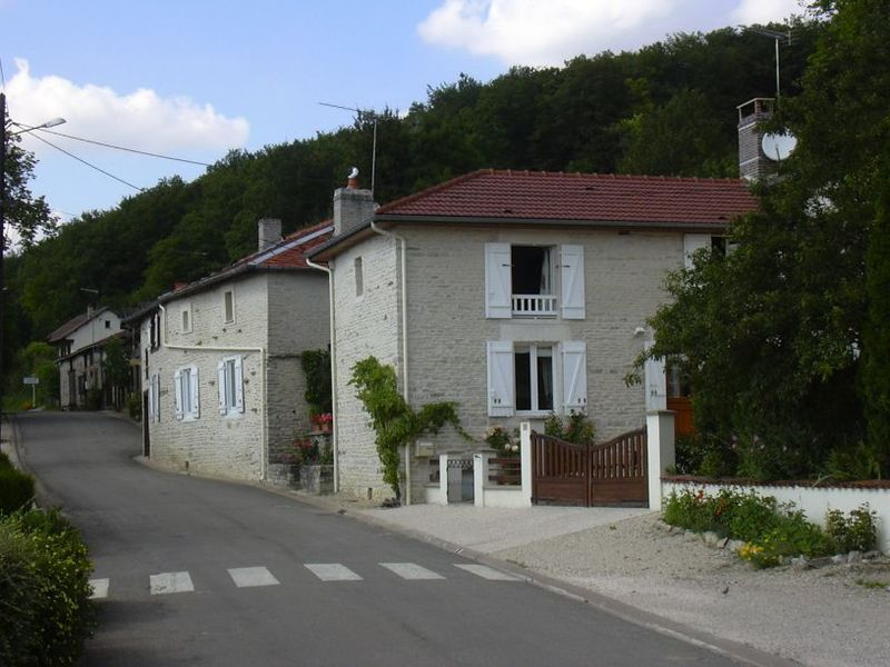 Houses in Rizaucourt-Buchey (Haute-Marne, Champagne-Ardenne, France).