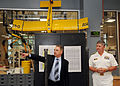 Robert Bishop, left, dean of engineering at Marquette University, gives U.S. Navy Vice Adm. Gerald R. Beaman, commander of the U.S. 3rd Fleet, a tour of Marquette's new engineering building during the Navy's 120809-N-HN795-008.jpg