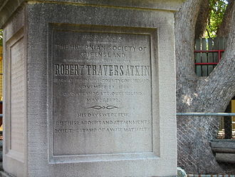 Robert Travers Atkin - Image: Robert Travers Atkin memorial