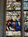 Roberval (60), église Saint-Remy, croisillon sud, verrière n° 6, 1er régistre, gauche - Nativité.JPG