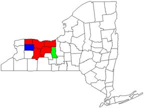 Rochester metropolitan area, New York - Image: Rochester, NY CSA