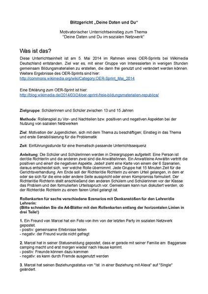 File:Rollenspiel für Schülerinnen und Schüler - Deine Daten Und Du - OER Sprint.pdf