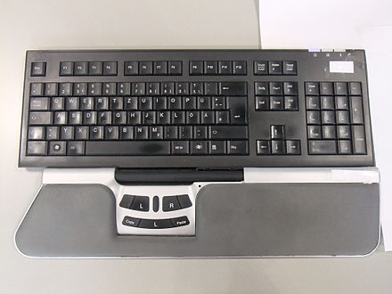 Keyboard with roller bar mouse Roller bar mouse.JPG