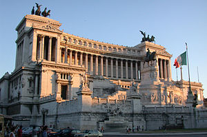 Monument of Vittorio Emanuele II in Rome, comm...
