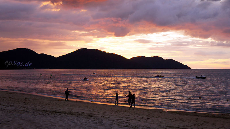 File:Romantic sunset at the beach in Malaysia.jpg