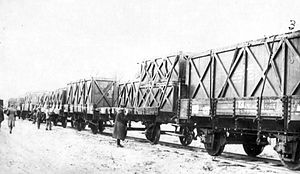Romorantin - Pruniers Air Detachment - Dh-4 crates on rail cars arriving at Romorantin