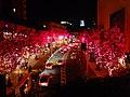 Roppongi Hills Keyakizaka at night 20141224-red 01.jpg