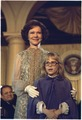 Rosalynn Carter and Amy Carter at Inaugural Ball - NARA - 173395.tif