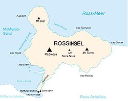 Ross-Insel mit Hut-Point-Halbinsel