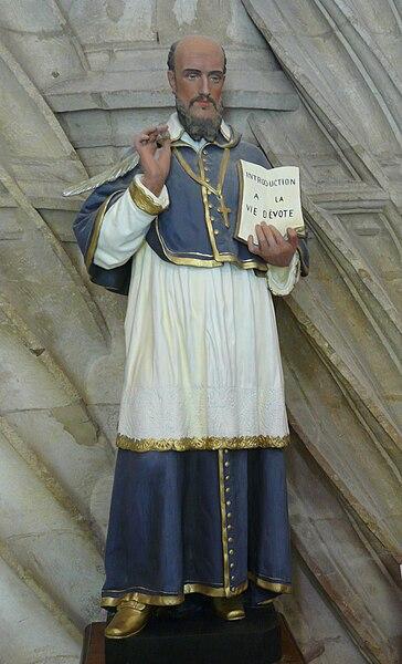 Fichier:Rouffignac-Saint-Cernin église statue St François de Sales.JPG