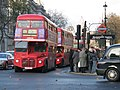 Routemasters at Westminster tube station.jpg