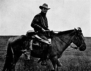 Roy Chapman Andrews - Roy Chapman Andrews on his horse Kublai Khan in Mongolia about 1920