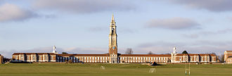 Royal Hospital School - The front of the main building, overlooking the sports pitches