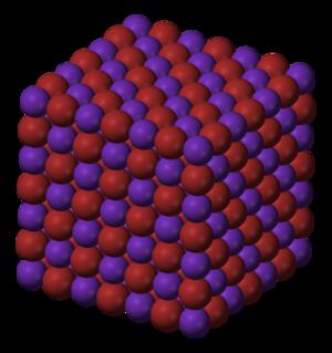 Rubidium bromide - Image: Rubidium bromide 3D ionic