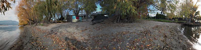 File:Russdionnedotcom-Kelowna KLO Beach Access-panarama.jpg
