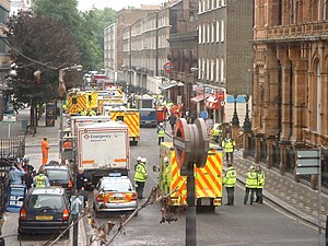 7 July 2005 London bombings - Emergency services at Russell Square tube station