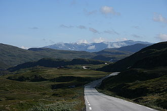 Vik - View of the road over Vikjafjellet