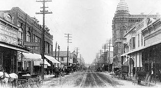 History of Lake Charles, Louisiana - Ryan Street in Lake Charles, 1903.