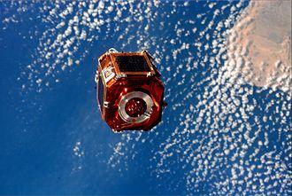 Comisión Nacional de Actividades Espaciales - SAC-A view from the Space Shuttle