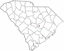 Location of Summerton, South Carolina