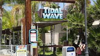 Tidal Wave (Six Flags Magic Mountain) - Entrance to Tidal Wave.